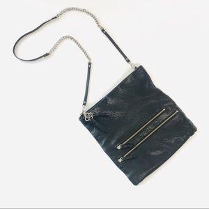 Stella & Dot Waverly 3-Way Black Leather Bag